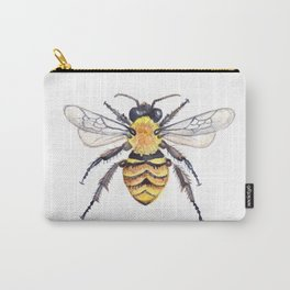 Watercolor Bee Carry-All Pouch