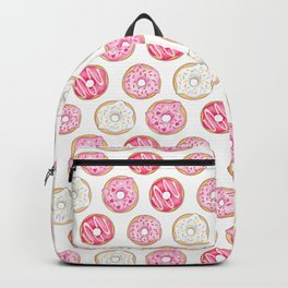 Pink Donuts Pattern on a pink background Backpack