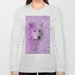 PURPLE WOLF FLOWER SPARKLE Long Sleeve T-shirt