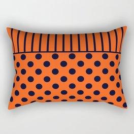 Orange, combo pattern Rectangular Pillow