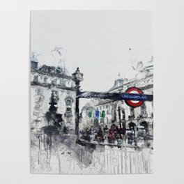 Piccadilly Circus London Poster