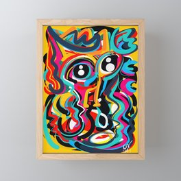 Yellow Street Art Neo Expressionist Portrait of the artist Framed Mini Art Print