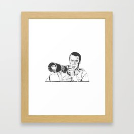 Jimmy Stewart in Rear Window Framed Art Print