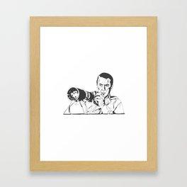 Jimmy Stewart in Rear Window Framed Art Print
