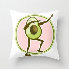 Avocado Dabbing Throw Pillow
