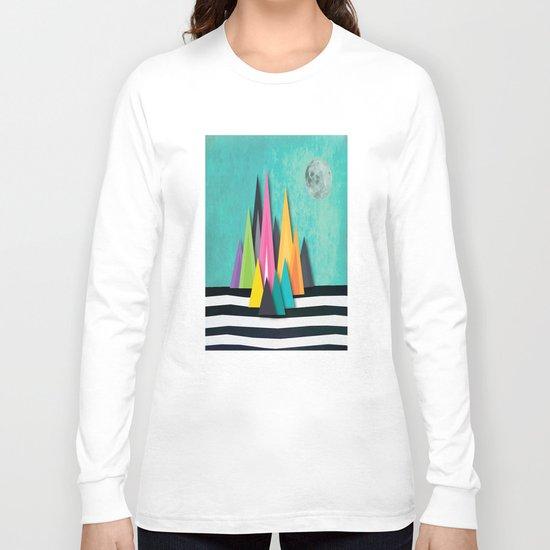 Prison Stripe Mountains Long Sleeve T-shirt