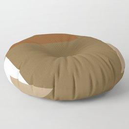 Contemporary 34 - Earthtones Abstract Floor Pillow