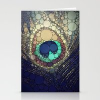 shipping Stationery Cards featuring Peacock Feather  by Love2Snap