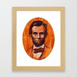 Lincoln Oval Framed Art Print