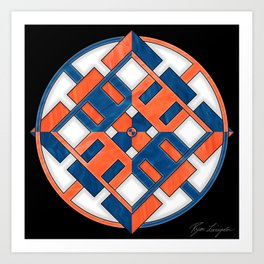 Chamarian Star - Belief Color Scheme Art Print