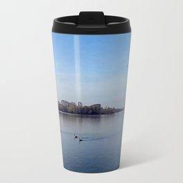 Panorama - Lake in Autumn Travel Mug