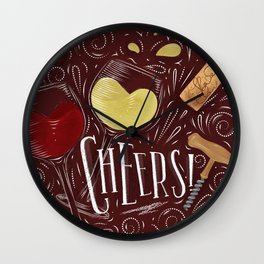 Cheers red Wall Clock