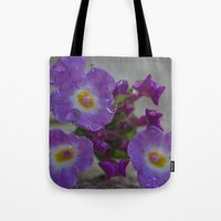 bath Tote Bags featuring Bath by Nicole Stamsek