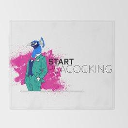 Start Peacocking Throw Blanket