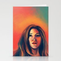 amy pond Stationery Cards featuring Amy Pond by Alexia Bonfield