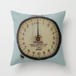 Gauge, Industrial, Steampunk, Tool Throw Pillow