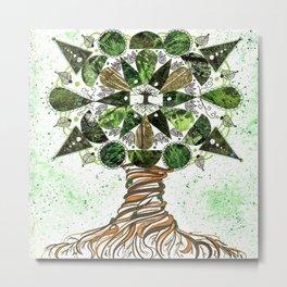 Tree of LIfe Mandala Metal Print
