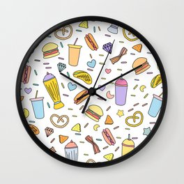Fast food & Shakes Wall Clock