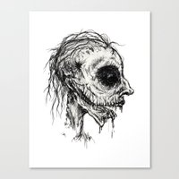 zombies Canvas Prints featuring Zombies by Renee Michele Andolina