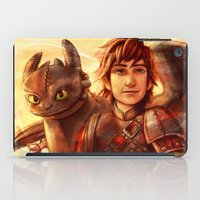 hiccup iPad Cases featuring The Greatest Dragon Master by Five-Oclock