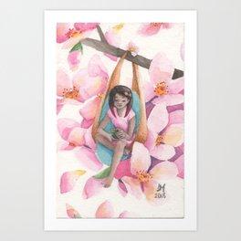 Bliss Among Blossoms Art Print