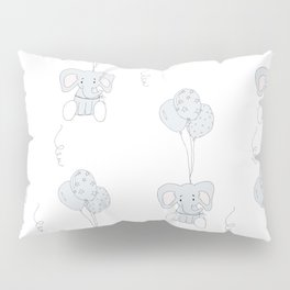 Elephants with Balloons Pillow Sham