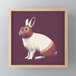 Lapin Catcheur (Rabbit Wrestler) Framed Mini Art Print