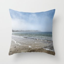 Fog rolling in on Niles Beach 5-9-18 Throw Pillow