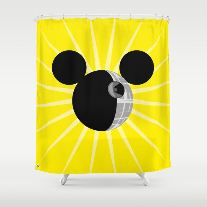 The New Death Star Shower Curtain By Simona Merlini