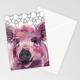 Precious Pig Stationery Cards