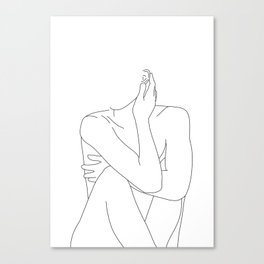 Nude life drawing figure - Celina Canvas Print