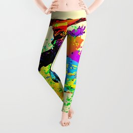 Hip hop dancer, teenager jumping, dancing Leggings