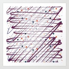 Maroon Splatter Pattern Art Print