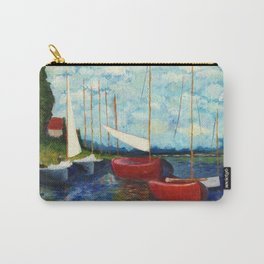 """Artistic Impression of Claude Monet's """"Red Boats at Argenteuil"""" Carry-All Pouch"""