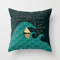pilot Throw Pillows featuring PILOT ME by Rebecca Allen