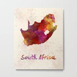 South Africa  in watercolor Metal Print