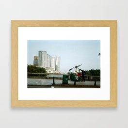 Rickshaw break Framed Art Print