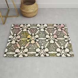 Floral Circuitry Rug