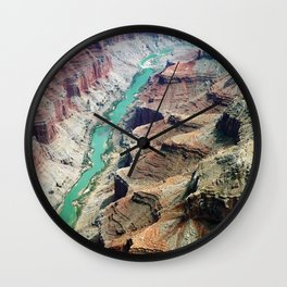 Grand Canyon Bird's eye view #4 Wall Clock
