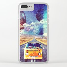 Globe trotter Clear iPhone Case