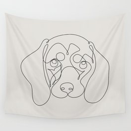 One Line Dachshund Wall Tapestry