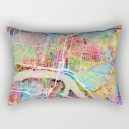 Philadelphia Pennsylvania Street Map Rectangular Pillow