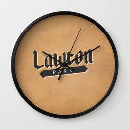 Lawton Park Wall Clock
