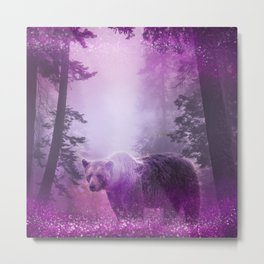 Fairy bear out of the woods Metal Print