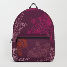 Hamsa Hand Print Backpack