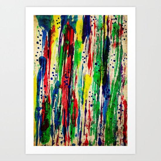 Disjointed Stripes Art Print