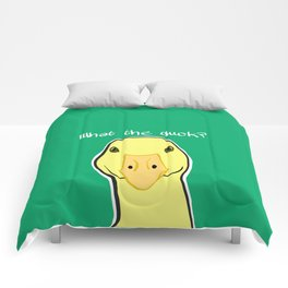 What the Duck? You Quack Me Up. Comforters