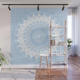 Baby Blue Boho Mandala Wall Mural