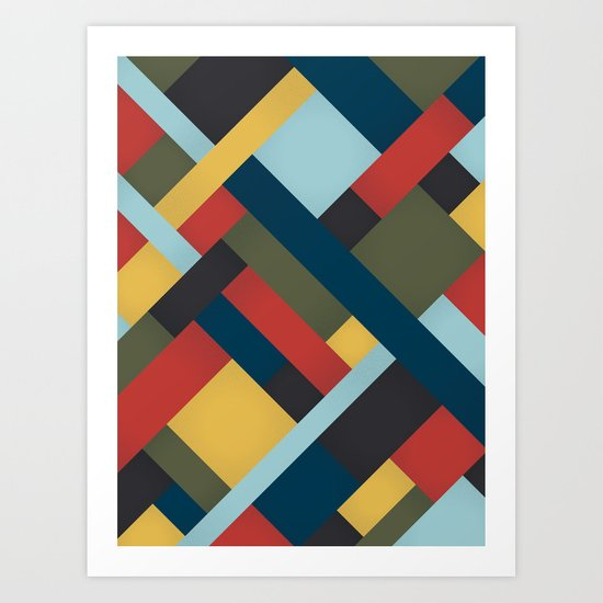 Abstrakt Adventure Art Print