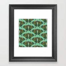 swallowtail butterfly emerald Framed Art Print